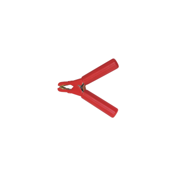 Akkumulátor csipesz piros 600A