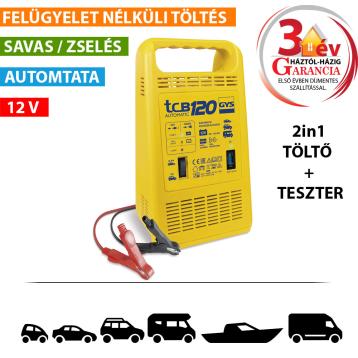 TCB 120 automata akkumulátortöltő